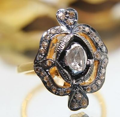 Victorian Wedding Rings 1.2 Ct Natural Certified Diamond 925 Sterling Silver Vacation