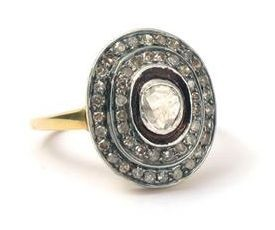Victorian Rings For Sale 1.45 Ct Natural Certified Diamond 925 Sterling Silver Wedding