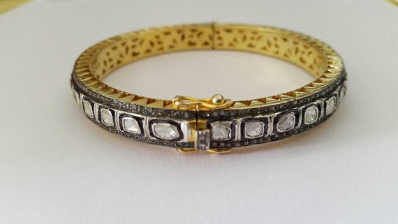 Vintage Bracelets 8.76 Ct Natural Certified Diamond 925 Sterling Silver Party
