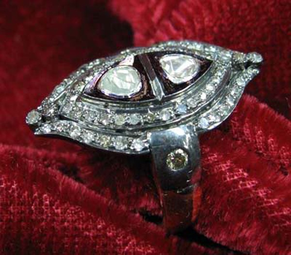 Vintage Engagement Rings For Sale 1.4 Rose Cut Natural Certified Diamond 925 Sterling Silver Everyday
