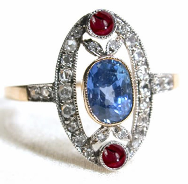 Victorian Style Engagement Rings 0.52 Rose Cut Natural Certified Diamond Topaz Ruby 925 Sterling Silver Vacation