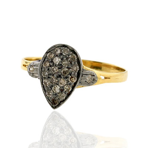 Victorian Style Rings 0.36 Rose Cut Natural Certified Diamond 925 Sterling Silver Special Occasion