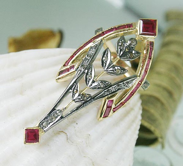 Victorian Style Rings 0.4 Rose Cut Natural Certified Diamond Ruby 925 Sterling Silver Special Occasion