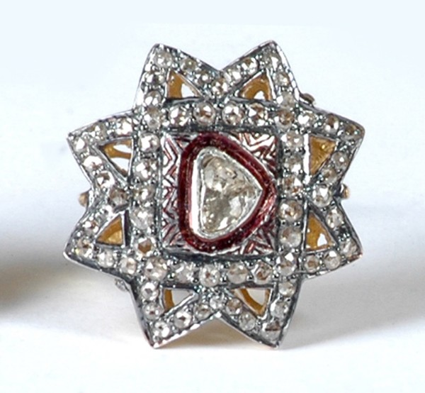 Polki Rings 1.75 Rose Cut Natural Certified Diamond 925 Sterling Silver Anniversary