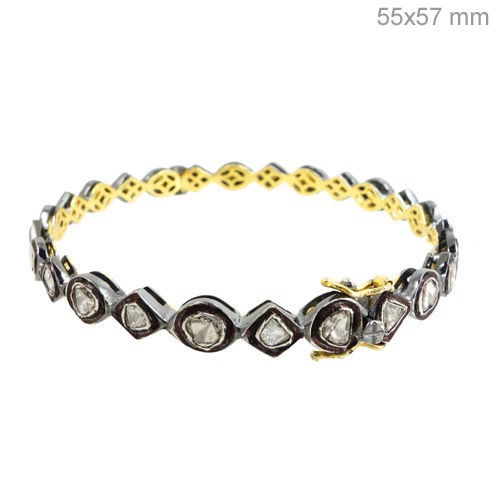 Art Deco Diamond Bracelet 3.65 Ct Natural Certified Diamond 925 Sterling Silver Jewelry Office Wear