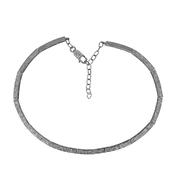 Victorian Necklace 6.6 Ct Natural Certified Diamond 925 Sterling Silver Anniversary
