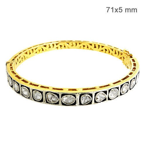 Art Deco Bracelet 2.1 Ct Natural Certified Diamond 925 Sterling Silver Jewelry Everyday
