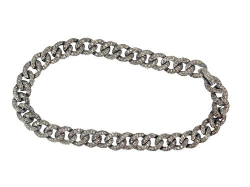 Victorian Bracelet 2.6 Ct Natural Certified Diamond 925 Sterling Silver Special Occasion