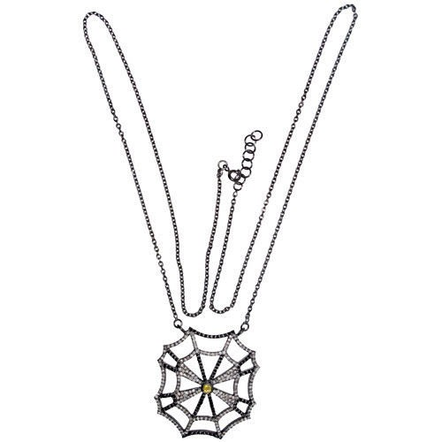 Uncut Necklace 3 Ct Natural Certified Diamond Topaz 925 Sterling Silver Jewelry Vacation