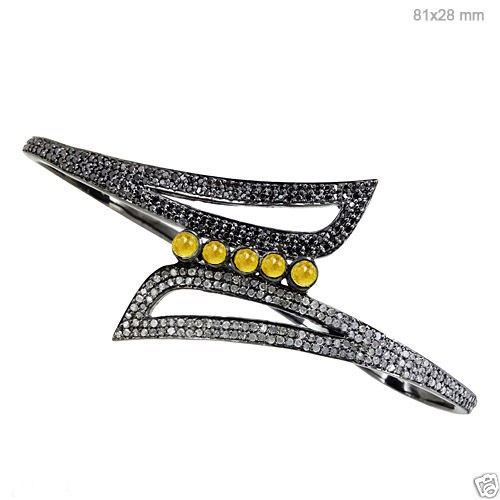 Polki Bracelet 3.1 Ct Natural Certified Diamond 925 Sterling Silver Jewelry Everyday