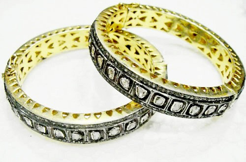 Vintage Diamond Bracelet 10.40 Ct Natural Certified Diamond 925 Sterling Silver Festive