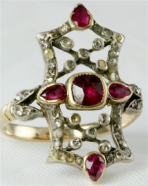 Victorian Engagement Rings 3.00 Ct Natural Certified Diamond Ruby 925 Sterling Silver Weekend