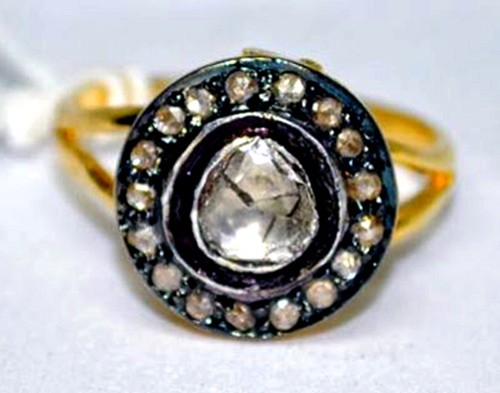 Antique Looking Engagement Rings 0.65 Ct Natural Certified Diamond 925 Sterling Silver Office Wear