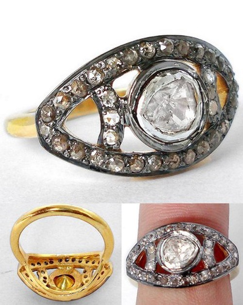 Victorian Engagement Rings 1.15 Ct Natural Certified Diamond 925 Sterling Silver Weekend