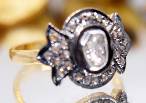 Vintage Engagement Rings For Sale 0.77 Ct Natural Certified Diamond 925 Sterling Silver Everyday