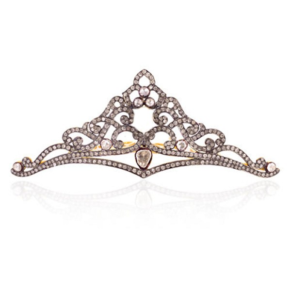 Bridal Hair Accessories 7.5 Ct Natural Certified Diamond 925 Sterling Silver Headband