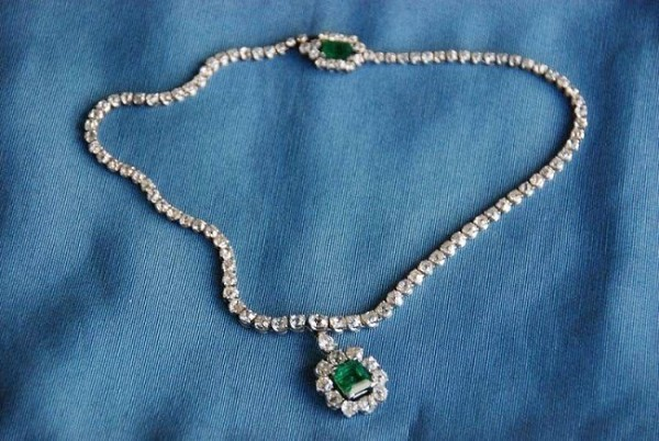 Diamond Solitaire Necklace 7.50 Ct Natural Diamond 4.00 Ct Emerald Solid Gold String Certified