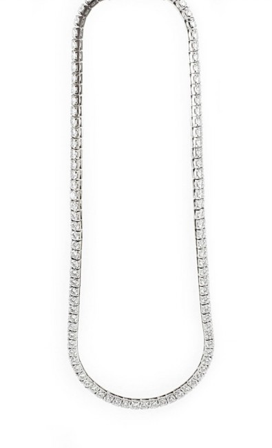 Solitaire Diamond Necklace 10.00 Ct Natural Diamond Solid White Gold Anniversary Certified
