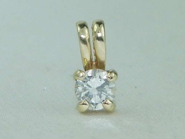 Diamond Pendant 0.50 Ct  Yellow Gold Single Solitaire Natural Certified