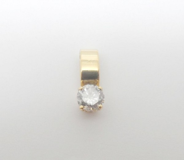 Diamond Pendant 0.25 Ct Solid Yellow Gold Single Solitaire Natural Certified