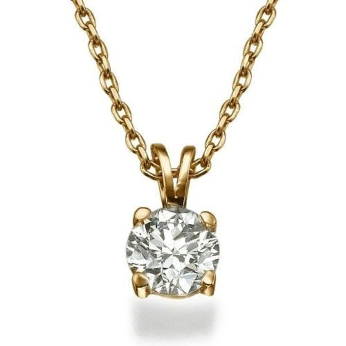Diamond Pendant Charms 0.72 Ct Solid Gold Natural Certified