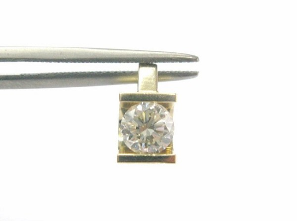 White Gold Diamond Pendant 0.30 Ct Solid Gold Solitaire Natural Certified