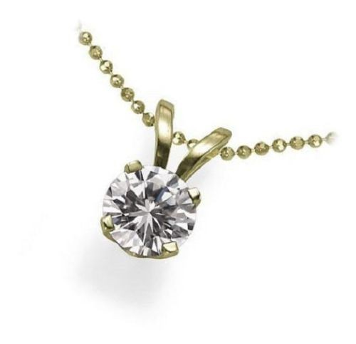 Diamond Pendant Necklace 0.52 Ct solid Gold Solitaire Natural Certified