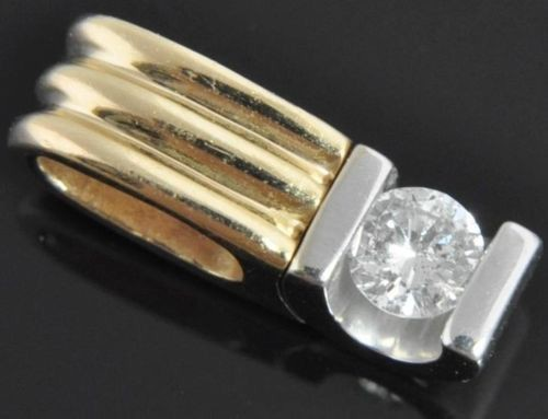 White Gold Pendnat 0.25 Ct Diamond solid Gold Solitaire Natural Certified