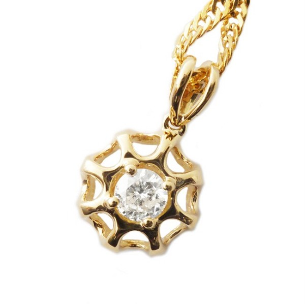 Fine Necklace & Pendant 0.25 Ct Diamond solid Gold Natural Certified
