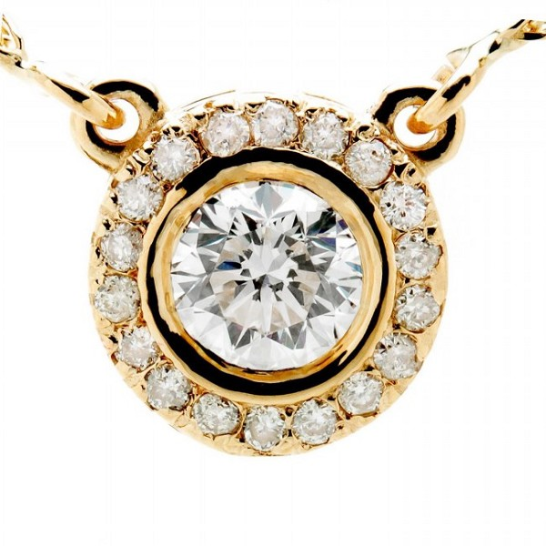 Diamond Necklace & Pendant 0.70 Ct solid Gold Solitaire Natural Certified