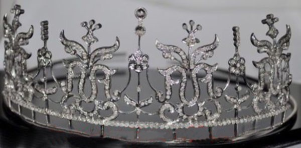 Bridal Headpieces 14 Carat Natural Rose Cut Certified Diamond Sterling Silver Head Pieces