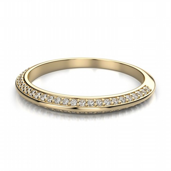 Gold Wedding Bands 1.02 Ct Natural Certified Diamond Solid Yellow Gold Wedding