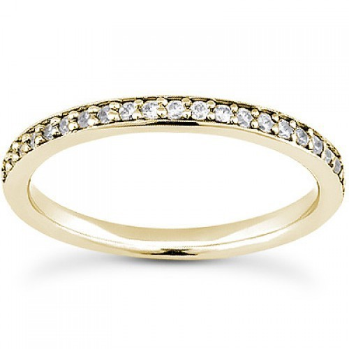 Gold Wedding Bands For Women 0.85 Ct Natural Certified Diamond Wedding