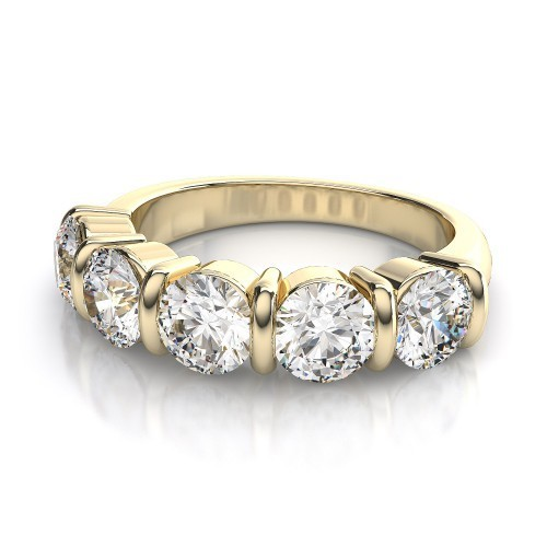 Gold Wedding Bands 1.00 Ct Natural Certified Diamond Solid Gold Beautiful Wedding