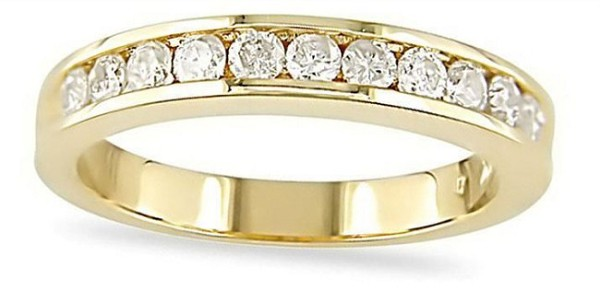 Wedding Bands 1.20 Ct Natural Certified Diamond Solid Gold Wedding