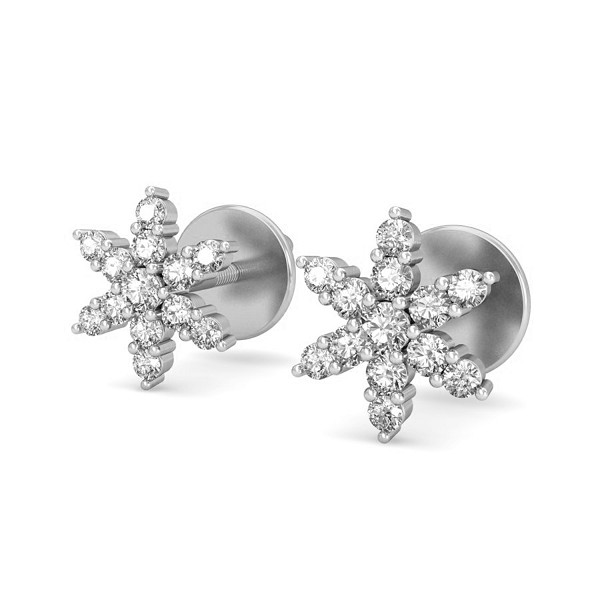 Diamond Studs 0.35 ct Diamond Natural Certified Solid Gold Earrings
