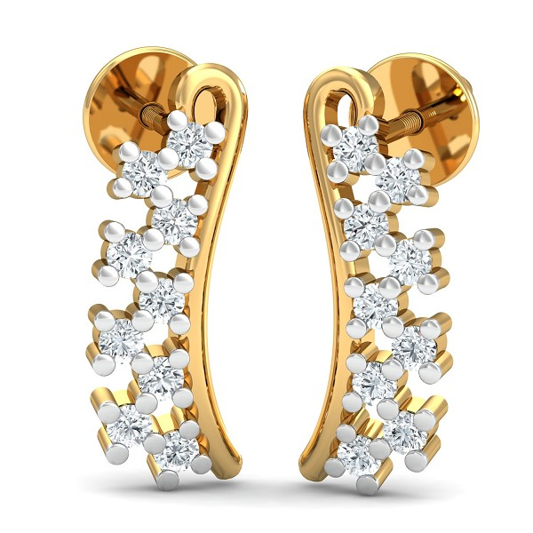 Designer Earrings 0.18 Ct Natural Certified Diamond Special Occasion