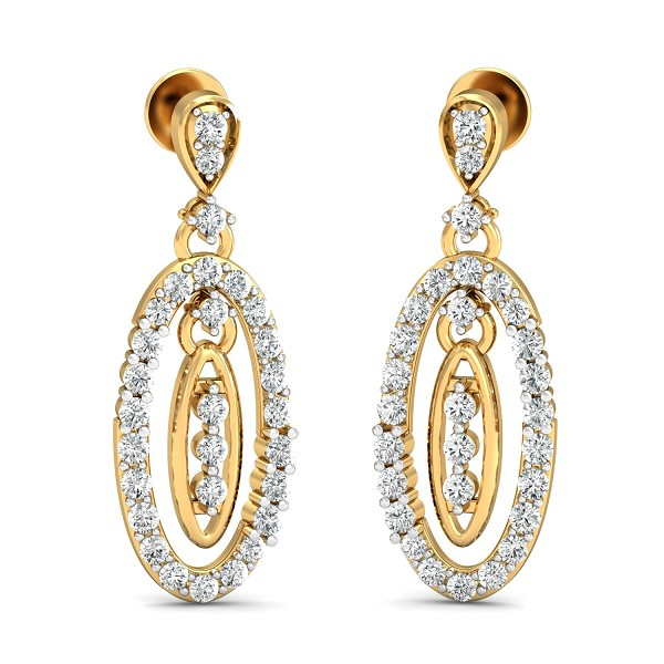 Diamond Earrings for Women 0.82 Ct Natural Certified Solid Gold Vacation