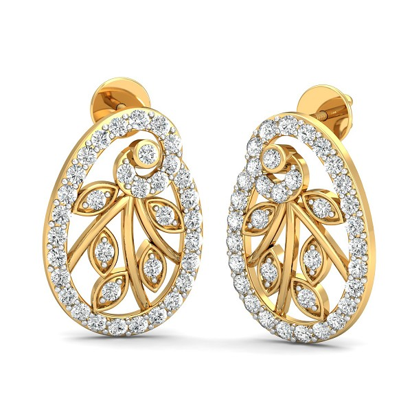 Diamond Earrings 0.71 Ct Natural Certified Solid Gold Weekend