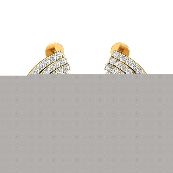 Diamond Earrings for Women 1.16 Ct Natural Certifed Solid Gold Special Occasion