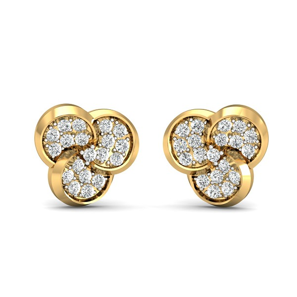 Diamond Earrings 0.57 Ct Natural Certified Solid Gold Solid Gold Vacation