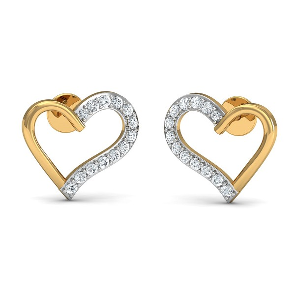 Designer Earrings 0.33 Ct Natural Certified Diamond Solid Gold Office Wear