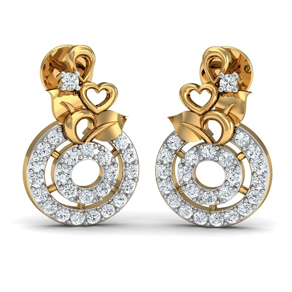 Diamond Earrings 0.26 Ct Natural Certified Solid Gold Special Occasion