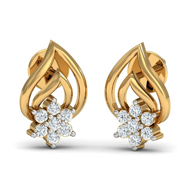 Diamond Earrings for Women 0.14 Ct Natural Certified Solid Gold Special Occasion