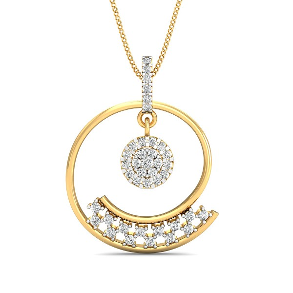 Fine Necklace & Pendant 0.58 Ct Natural Certified Diamond Special Occasion