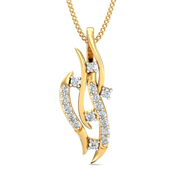 Fine Necklace & Pendant 0.17 Ct Natural Certified Diamond Office Wear