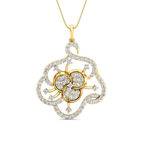 Fine Necklace & Pendant 0.95 Ct Natural Certified Diamond Solid Gold Vacation
