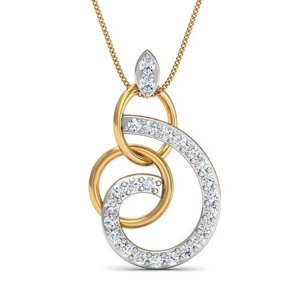 Diamond Necklace & Pendant 0.17 Ct Natural Certified Solid Gold Workwear