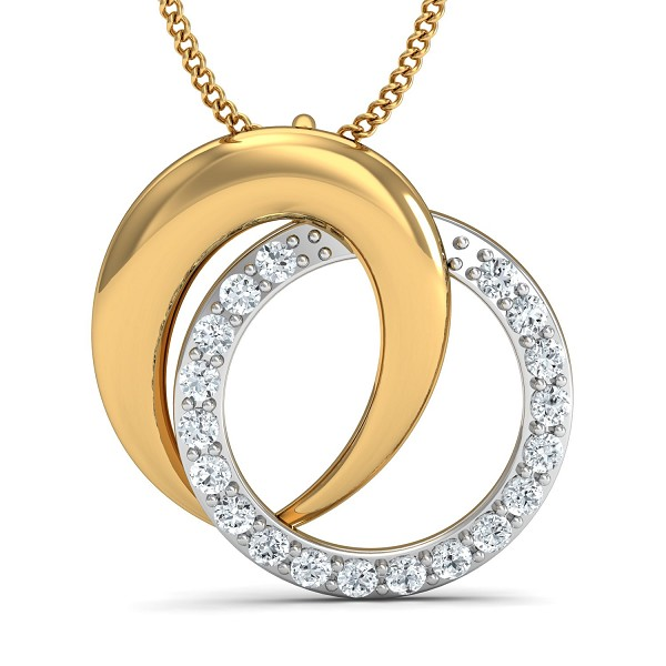Diamond Pendant Necklace 0.19 Ct Natural Certified Solid Gold Office Wear