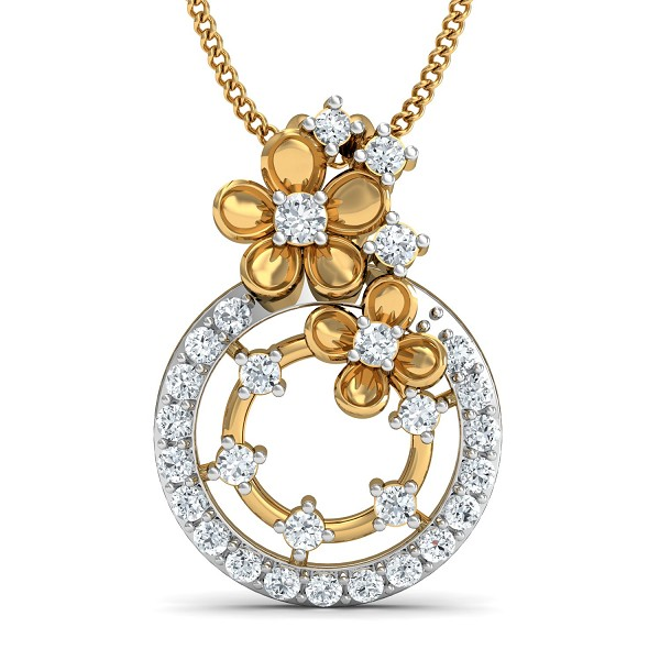 Fine Necklace & Pendant 0.32 Ct Natural Certified Diamond Festive